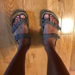 Birkenstock Mayari Brown 2 Double Strap Sandals